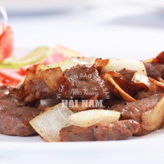 BÒ XÀO TIÊU ĐEN (Món ăn nhà hàng)